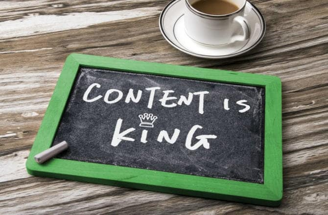 Content is king when it comes to driving growth