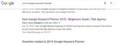 how to use google keyword planner 2019