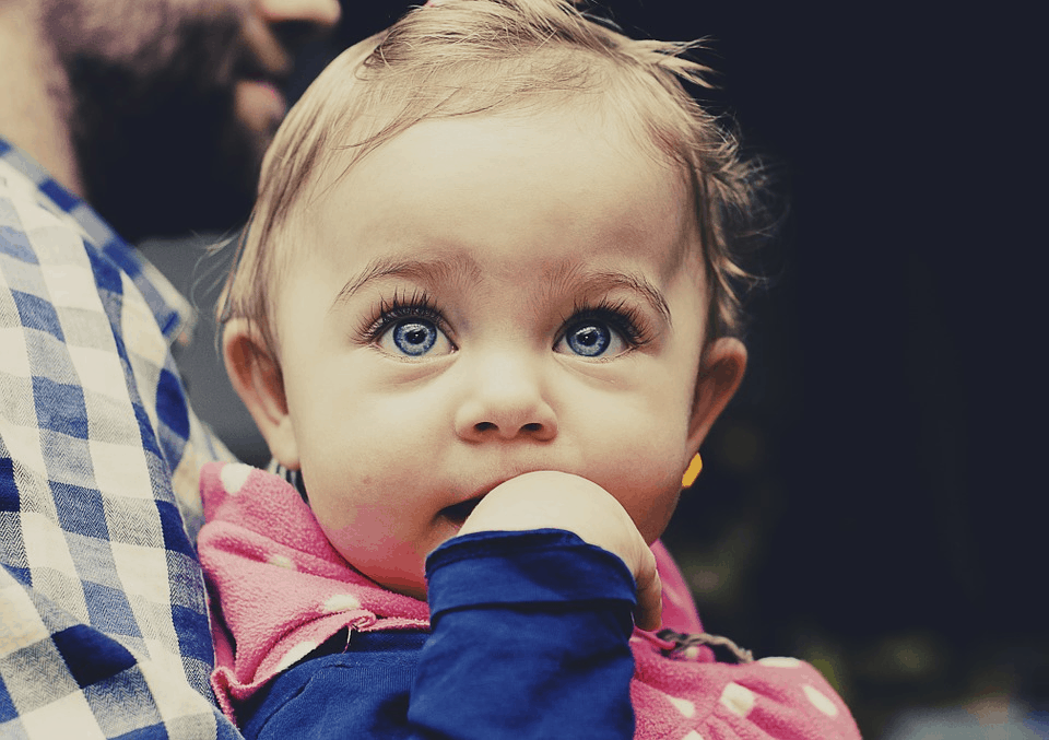 child looking at something
